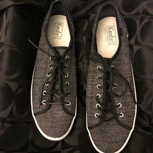 Keds Ortholite ~ Black & White Canvas Sneakers ~11